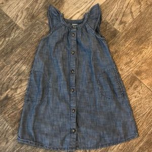 Gap chambray flutter sleeve dress